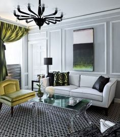 47 Inspiring Emerald Green Sofa Designs For Living Room furniture Living Room New York, Living Room Green, Home Living Room, Living Room Designs, Living Room Decor, Living Spaces, Living Area, Green Sofa Design, Emerald Green Sofa