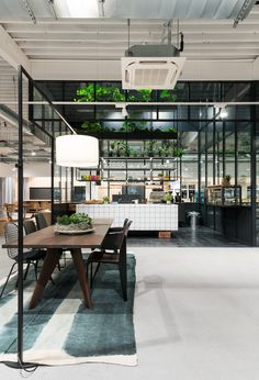 knoblauch's flexible office in germany invites customers to discuss furniture over coffee