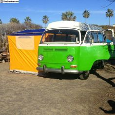 Vw bus with tent