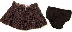 Baby Gap Corduroy Skirt Toddler Girl Size 12-18 Mth Polka Dots & Diaper Panties #Gap #Everyday