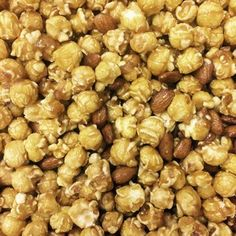 Our Gourmet Toffee Popcorn with fresh Almonds! The mix of sweet and salty is delicious! Select your size below.