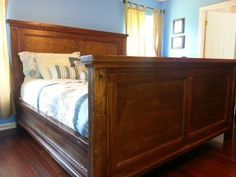 King Farmhouse Bed (modified) | Do It Yourself Home Projects from Ana White