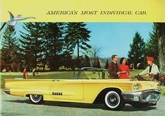 this 1958 Ford Thunderbird Convertible ... from my birth year!