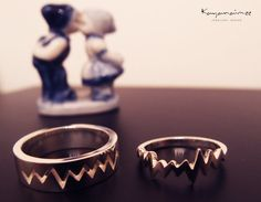 Heart beat Couple Ring All sizes are by KayanaimeeJewellery, $1200.00