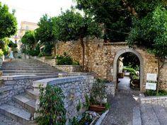 Via Scalinata Timoleone, Taormina, Sicily, Italy.