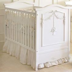 Art for Kids Furniture French Panel Flower Basket Crib in Snow