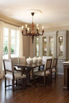 Love this idea for a dining room. Beautiful, simple and elegant