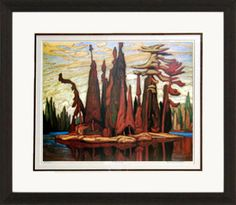 Island, Mc Callum Lake - Numbered By Artist | Group Of Seven | Framed Art | Wall Decor | Art | Picture | Home Decor