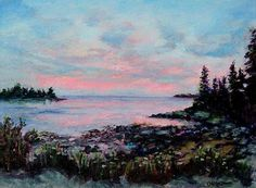 Maine - The Way Life Should Be... by Christine Molitor Johnson, Oil