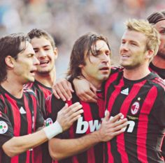 David Beckham and Andrea Pirlo  AC Milan