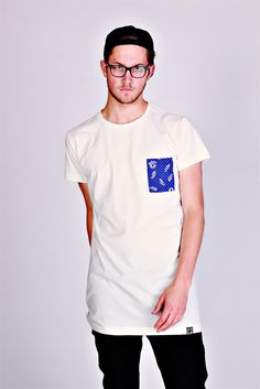 Tall Tees Cø Longline T-Shirt With Paisley Pocket
