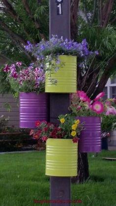 Precious Tips for Outdoor Gardens - Modern Garden Yard Ideas, Diy Garden Projects, Garden Crafts, Diy Garden Decor, Garden Art, House Plants Decor, Plant Decor, Garden Poles, Plantation