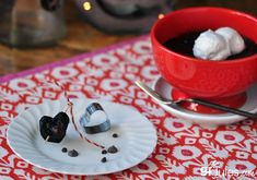 gluten free chocolate mug cake by gfJules - perfect for Valentine's Day