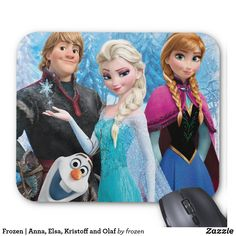 Frozen | Anna, Elsa, Kristoff and Olaf. Regalos, gifts. #Mousepads