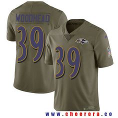 Men's Baltimore Ravens #39 Danny Woodhead Olive 2017 Salute To Service Stitched NFL Nike Limited Jersey