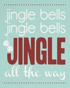 Jingle Bells - free printable in 4 color options