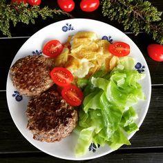 Edel's Mat & Vin : Hjemmelaget karbonader med nykål og fløtegratinert...