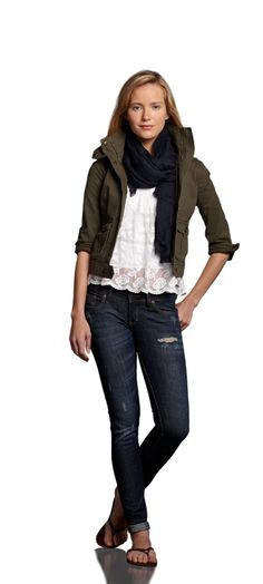0421ea73924 This look is from Abercrombie  amp  Fitch. Love this look Vintage Military  Jacket