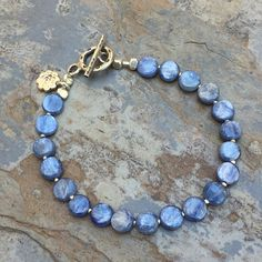 Kyanite Bracelet with Hill Tribe Silver, choose your size.