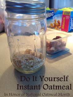 This Magical Journey: National Oatmeal Month & DIY Instant Oatmeal