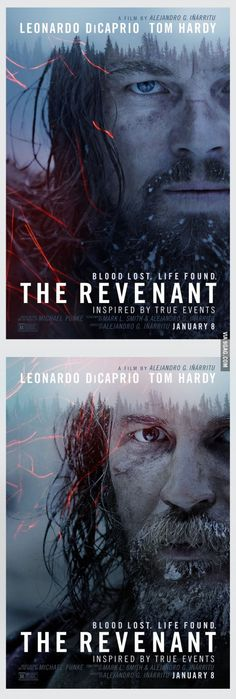 'The Revenant' Character Posters featuring Leonardo DiCaprio and Tom Hardy