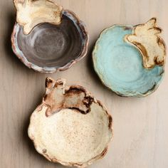 Etta B Pottery-bunny bowl
