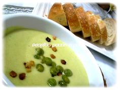 Receita passo a passo: Sopa creme de ervilha com bacon / Cream-soup of peas and bacon