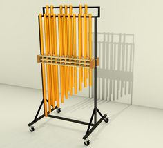 klangplatten eingeteilt auf rohholz selbstgebautes marimbaphon marimbaphon 5 oktaven. Black Bedroom Furniture Sets. Home Design Ideas