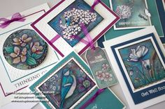 Stickeroos sheet by Penny Black makes 5 cards and 1 gift tag