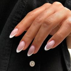 Simple Acrylic Nails, Almond Acrylic Nails, Best Acrylic Nails, Autumn Nails Acrylic, Acrylic French Manicure, Long Almond Nails, Almond Nail Art, Chic Nails, Classy Nails