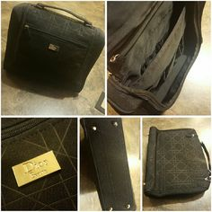 Black Dior Beauty Mini Travel/Cosmetic Bag Perfect beauty/cosmetic bag for traveling. Has 7 pockets (2 large main, 2 small zipper, and 3 inside front large pocket). Mirror included. In like new condition, no stains, rips, or snags. Dior Bags Cosmetic Bags & Cases