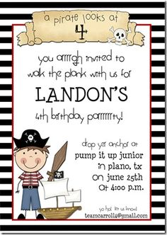 Ok, so maybe I'm crazy since my son doesn't even turn 4 until the end of November but last night for some reason I was trying to think of what we could do for his birthday since it's in November and we can't have a fun outdoor party but still want to have fun, pirates came to mind, so now it begins.  ;)