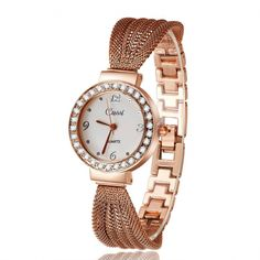 Cheap feminino, Buy Quality feminino relogio Directly from China Suppliers:Luxury Rhinestone Bracelet Watch Women Watches Rose Gold Watches Clock Fashion Ladies Watch saat montre femme relogio feminino Cheap Watches, Cool Watches, Wrist Watches, Women's Watches, Luxury Watches, Ladies Watches, Teenager Fashion Trends, Swiss Army Watches, Rose Gold Watches