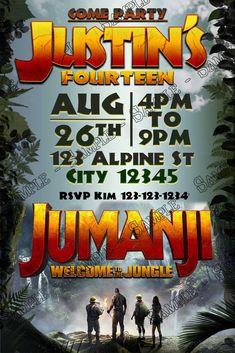 Jumanji 2 - Movie - Birthday Party - Thank You Card