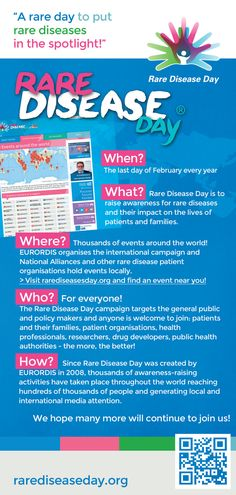 All you need to know about Rare Disease Day http://www.rarediseaseday.org/