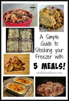 Stocking your Freezer with Meals!
