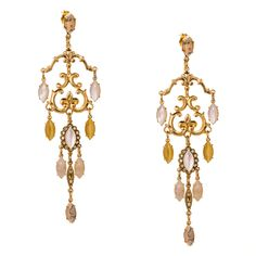 """These are incredible 24K yellow gold plated earrings from AMARO's """"Desert…"""