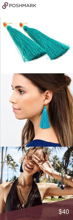 Gorjana tulum tassel earrings Worn twice Gorjana Jewelry Earrings