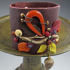 Autumn leather cuff