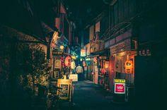 La magia de las calles de Tokio en la noche en fotos por Masashi Wakui
