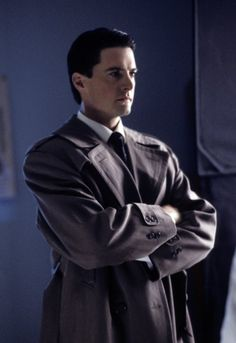 Still of Kyle MacLachlan as Special Agent Dale Cooper in Twin Peaks (1990) via imdb.com