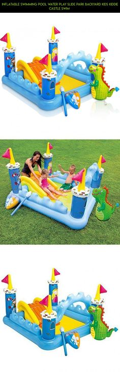 Inflatable Swimming Pool Water Play Slide Park Backyard Kids Kiddie Castle Swim  #drone #fpv #gadgets #pools #technology #inflatable #products #parts #tech #racing #shopping #kit #plans #kid #camera