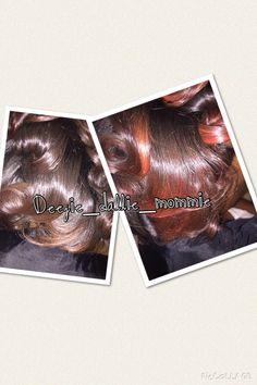 Natural hair, silk press, elumen RR, healthy hair