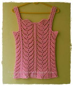 louca por linhas - crochet e patchwork: Regata Folhas