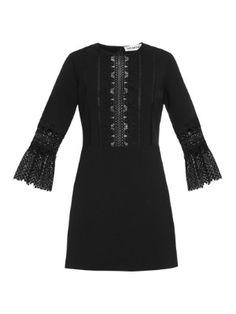 Bell-sleeved lace-insert dress | Self-portrait | MATCHESFASHION.COM US