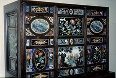Kunstkammer Wien pietre dure-Schrank, Ebenholz, Schmucksteine. Castrucci-Werkstatt, Prag, 1600-1620, KHM Wien