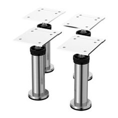 """IKEA - CAPITA, Leg, stainless steel, , Adjustable from 4 3/8 to 4 3/4"""" to level out any irregularities in the underlying surface."""