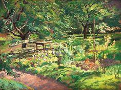 Jozef Mehoffer, w ogrodzie / in the garden on ArtStack #jozef-mehoffer #art
