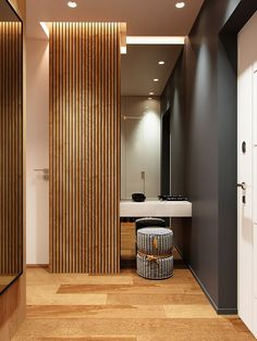 20 Trendy Home Entrance Door Foyers Modern Home Interior Design, Apartment Interior Design, Bathroom Interior, Interior Architecture, Entrance Decor, Entrance Design, House Entrance, Apartment Entrance, Hallway Designs