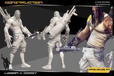 Comicon Challenge 2015|Wolverine X CaseybyvAp 3d Character, Character Concept, Character Design, Casey Jones, Zbrush, Wolverine, My Works, Fashion Art, Challenges